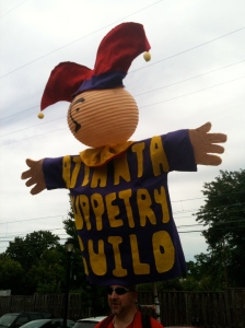 Atlanta Puppetry Guild giant mascot in the Puppet Parade