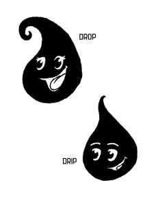 Drip and Drop shadow puppets