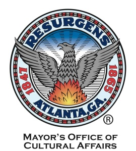 round logo that says Resurgens Atlanta and has a phoenix in the middle