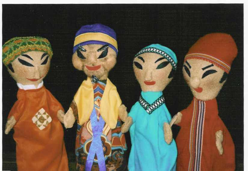 4 colorful hand puppets from Once Upon a Time in China