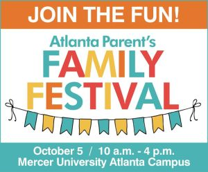 "A banner saying ""Join the Fun"" for Atlanta Parent's Family Festival on Saturday, October 5."
